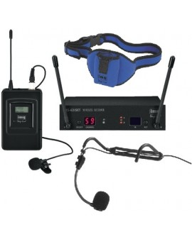 AEROBIC PACKAGE 1  - TX631 Radio Mic System + HS812 Headset + Aerobic Belt